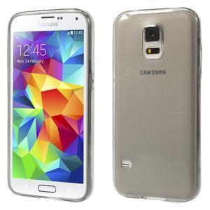 Gelové ultraslim pouzdro na Samsung Galaxy S5- šedé - 1