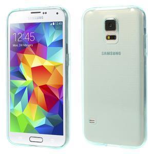 Gelové ultraslim pouzdro na Samsung Galaxy S5- světlemodré - 1