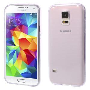 Gelové ultraslim pouzdro na Samsung Galaxy S5- fialové - 1