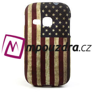 Gelové pouzdro na Samsung Galaxy Young S6310- USA vlajka - 1