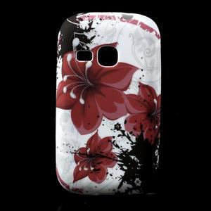 Gelové pouzdro na Samsung Galaxy Young S6310- červený květ - 1