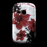Gelové pouzdro na Samsung Galaxy Young S6310- červený květ - 1/5