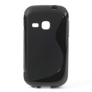 Gelové S-line pouzdro na Samsung Galaxy Young S6310- černé - 1