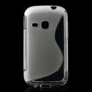 Gelové S-line pouzdro na Samsung Galaxy Young S6310- transparentní - 1