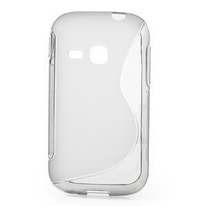 Gelové S-line pouzdro na Samsung Galaxy Young S6310- šedé - 1