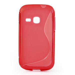 Gelové S-line pouzdro na Samsung Galaxy Young S6310- červené - 1