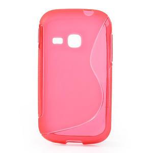 Gelové S-line pouzdro na Samsung Galaxy Young S6310- růžové - 1