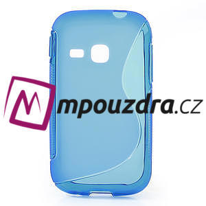 Gelové S-line pouzdro na Samsung Galaxy Young S6310- modré - 1