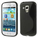 Gelové S-line pouzdro pro Samsung Trend plus, S duos- černé - 1/5