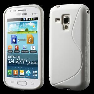 Gelové S-line pouzdro pro Samsung Trend plus, S duos- bílé - 1