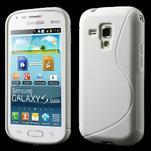 Gelové S-line pouzdro pro Samsung Trend plus, S duos- bílé - 1/5