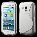 Gelové S-line pouzdro pro Samsung Trend plus, S duos- transparentní - 1/4