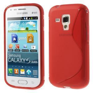 Gelové S-line pouzdro pro Samsung Trend plus, S duos- červené - 1