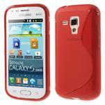 Gelové S-line pouzdro pro Samsung Trend plus, S duos- červené - 1/5