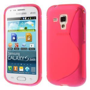 Gelové S-line pouzdro pro Samsung Trend plus, S duos- růžové - 1