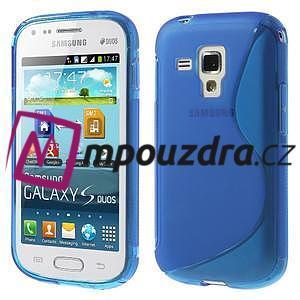 Gelové S-line pouzdro pro Samsung Trend plus, S duos- modré - 1
