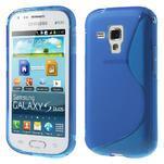 Gelové S-line pouzdro pro Samsung Trend plus, S duos- modré - 1/5