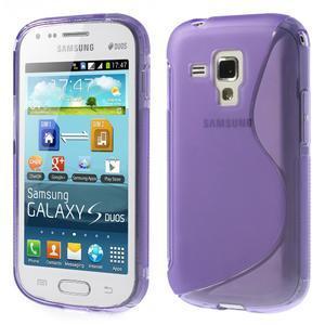 Gelové S-line pouzdro pro Samsung Trend plus, S duos- fialové - 1