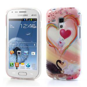 Gelové pouzdro na Samsung Galaxy Trend, Duos- labutí srdce - 1