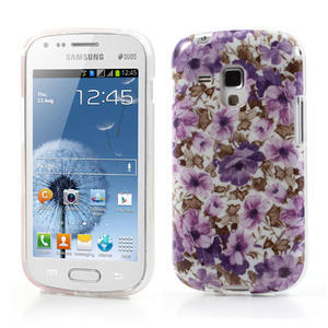 Gelové pouzdro na Samsung Galaxy Trend, Duos- fialové květy - 1