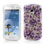 Gelové pouzdro na Samsung Galaxy Trend, Duos- fialové květy - 1/6
