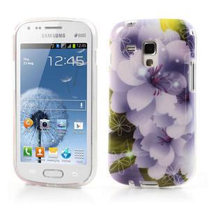 Gelové pouzdro na Samsung Galaxy Trend, Duos- elegantní květ - 1