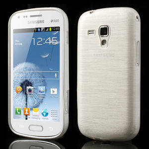 Kartáčované pouzdro na Samsung Galaxy Trend, Duos- bílé - 1