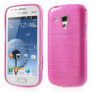 Kartáčované pouzdro na Samsung Galaxy Trend, Duos- růžové - 1