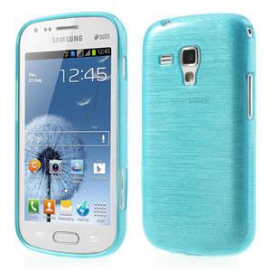 Kartáčované pouzdro na Samsung Galaxy Trend, Duos- modré - 1