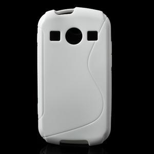 Gelové S-line pouzdro na Samsung Galaxy Xcover 2 S7710- bílé - 1