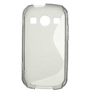 Gelové S-line pouzdro na Samsung Galaxy Xcover 2 S7710- šedé - 1
