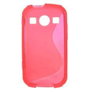 Gelové S-line pouzdro na Samsung Galaxy Xcover 2 S7710- růžové - 1