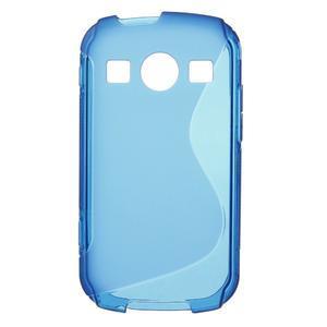 Gelové S-line pouzdro na Samsung Galaxy Xcover 2 S7710- modré - 1