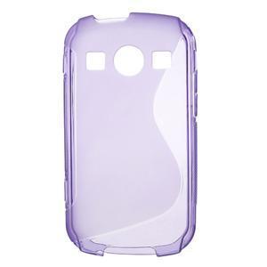 Gelové S-line pouzdro na Samsung Galaxy Xcover 2 S7710- fialové - 1