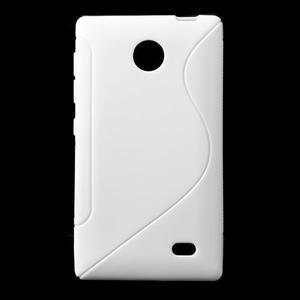 Gelové S-line pouzdro na Nokia X dual- bílé - 1