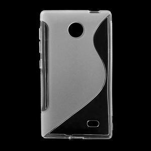 Gelové S-line pouzdro na Nokia X dual- transparentní - 1
