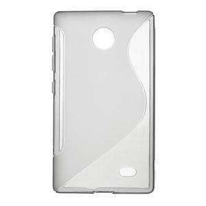 Gelové S-line pouzdro na Nokia X dual- šedé - 1