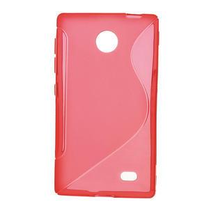 Gelové S-line pouzdro na Nokia X dual- červené - 1