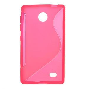 Gelové S-line pouzdro na Nokia X dual- růžové - 1