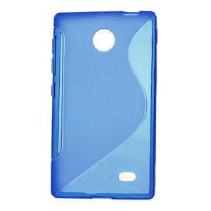 Gelové S-line pouzdro na Nokia X dual- modré - 1