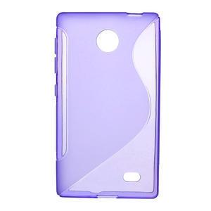 Gelové S-line pouzdro na Nokia X dual- fialové - 1