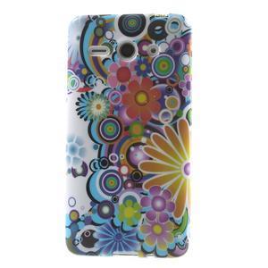 Gelové pouzdro na Huawei Ascend Y530- barevné květy