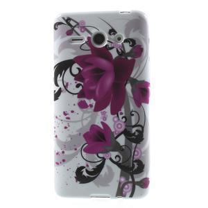 Gelové pouzdro na Huawei Ascend Y530- fialový květ