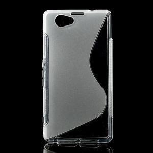 Gelové S-line pouzdro na Sony Xperia Z1 Compact D5503- transparentní - 1