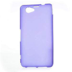 Gelové matné pouzdro na Sony Xperia Z1 Compact D5503- fialové - 1