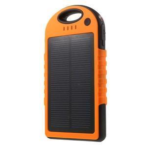 Outdoor GX vysokokapacitní externí solární nabíječka 12 000 mAh - oranžová - 1
