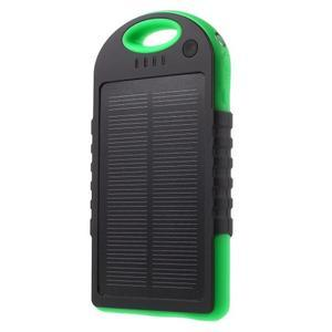 Outdoor GX vysokokapacitní externí solární nabíječka 12 000 mAh - černá/zelená - 1