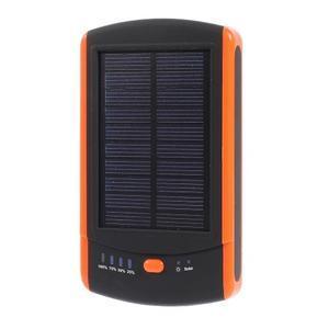CEX solární externí nabíječka 6 000 mAh - oranžová - 1