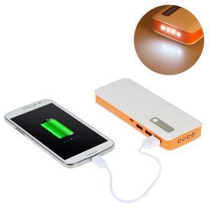 Vysokokapacitní externí nabíječka PowerBank GT 11 800 mAh - oranžová - 1