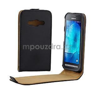 Flipové pouzdro na Samsung Galaxy Xcover 3 - černé - 1